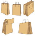 Shopping Bags isolated on a white vector image