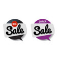 speech bubble circle with text sale on white vector image vector image