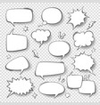 speech bubbles vintage word bubbles retro bubbly vector image