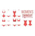swimsuit design set fashion bikini summer vector image vector image
