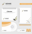 sword logo calendar template cd cover diary and vector image vector image