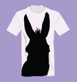 t-shirt with donkey on it vector image vector image