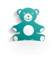 teddy bear icon paper vector image vector image