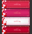 template of voucher card as valentine conception vector image