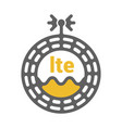 unusual flat lte 4g sticker with geometric design vector image