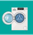 washing machine with open door vector image