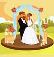 wedding ceremony color invitation postcard concept vector image