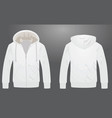 white hooded garment vector image vector image