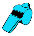 blue whistle icon icon cartoon vector image