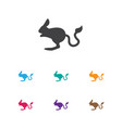 of zoo symbol on desert rodent vector image