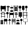 Set of different directional signs vector image