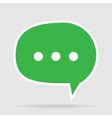 Green Message Bubble vector image