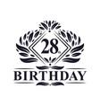28 years birthday logo luxury 28th birthday
