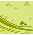 Abstract background with wind generators vector image vector image