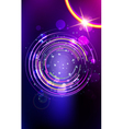Abstract lens flare background vector image vector image