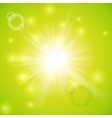 Abstract magic light green background vector image vector image