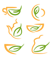 Abstract set icons of kitchen cookware vector image