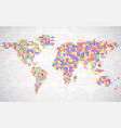 abstract world map from colorful pixels vector image
