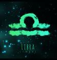 abstract zodiac sign libra on a dark cosmic vector image