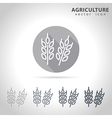 Agriculture outline icon vector image