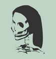 anatomic of skull vector image