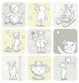 Baby card set vector image vector image