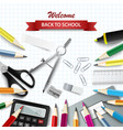back to school background with aids on square vector image