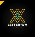 bank or finance organization letter m or w logo vector image vector image
