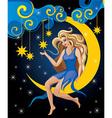 Beautiful Blonde Night Elf vector image vector image