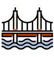 bridge linecolor vector image vector image