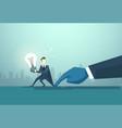 businessman hold light bulb problem business man vector image vector image