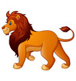 cartoon funny lion vector image vector image