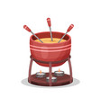 cheese fondue delicious dish of french cuisine vector image