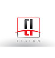ci c i logo letters with red and black colors and vector image vector image