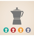coffee pot icons vector image vector image