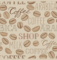 coffee seamless pattern coffee beans and vector image vector image