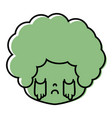 color boy head with curly hair and crying face vector image