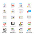 creative web and seo flat icons vector image