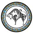 Decorative Zodiac Taurus vector image