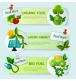 Ecology Banner Set vector image vector image