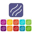 escherichia coli icons set vector image vector image