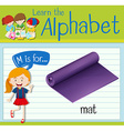 Flashcard letter M is for mat vector image vector image