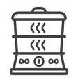 food steamer line icon kitchen and appliance vector image vector image