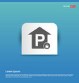 free parking place icon - blue sticker button vector image