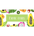 fruits of flat fruit raw vector image vector image