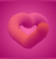 fur heart shape vector image