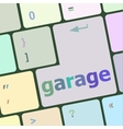 garage button on computer pc keyboard key vector image