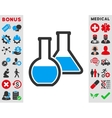 Glass Flasks Icon vector image vector image