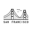 Golden Gate bridge of San Francisco vector image vector image