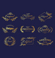 golden ornament labels luxury floral badges and vector image vector image